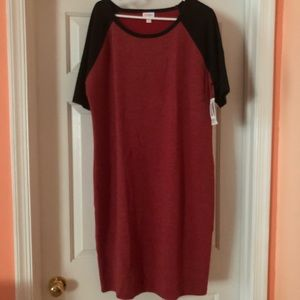Red & Black LLR Raglan 3X Julia. NWT.